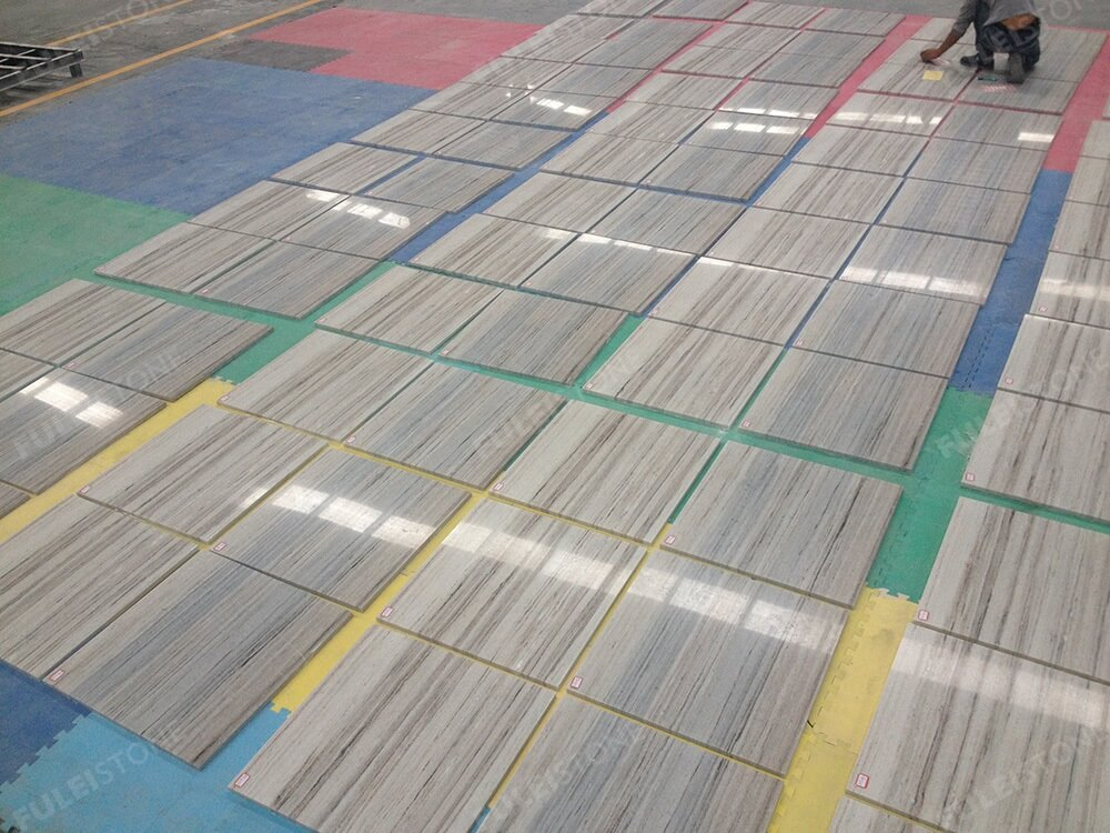 Crystal Wooden Marble Flooring Tiles