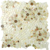 Fireworks Style Marble mosaic tile