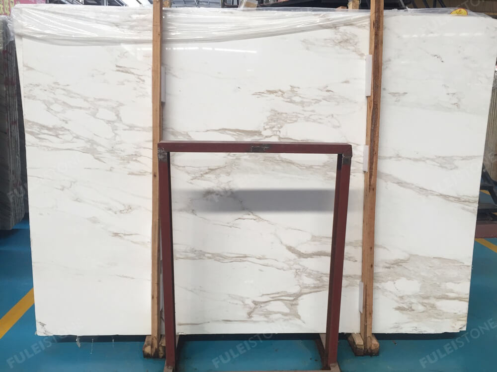 Greek Calacatta White Marble Slab