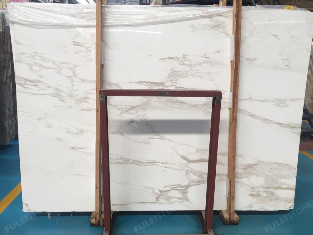 Greek Calacatta White Marble Slab