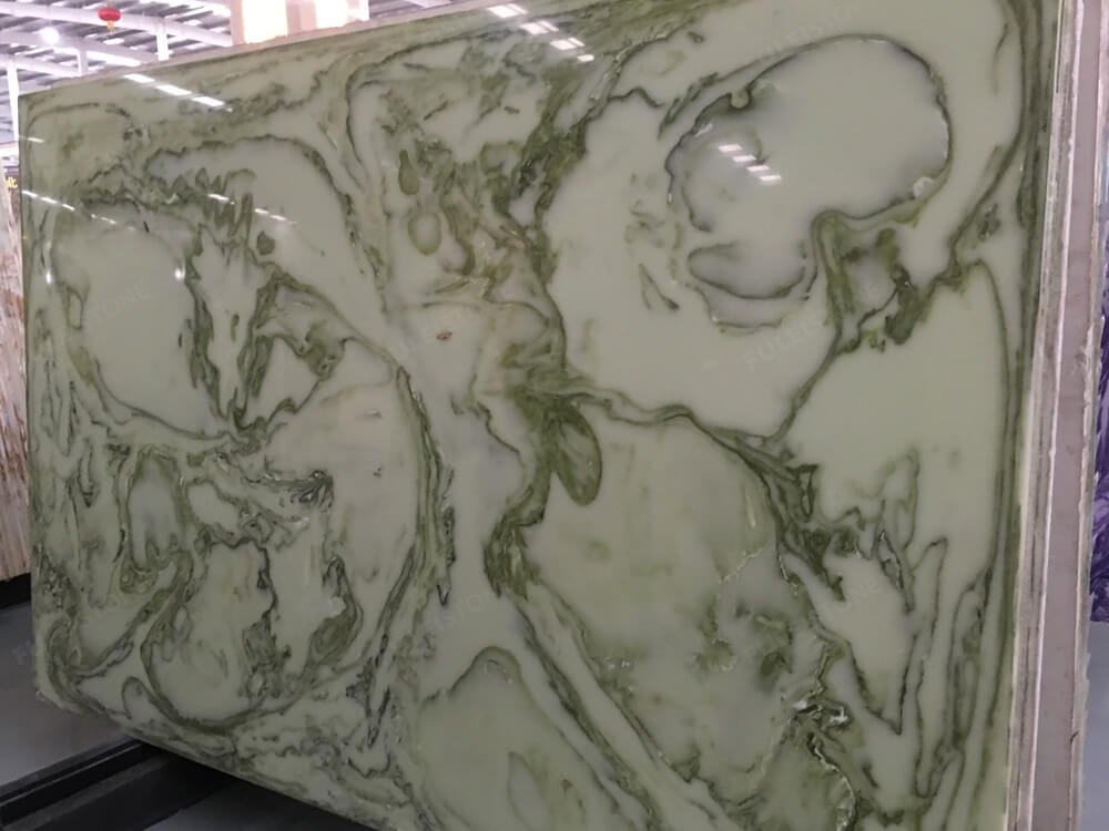 Green Artificial Onyx Slab