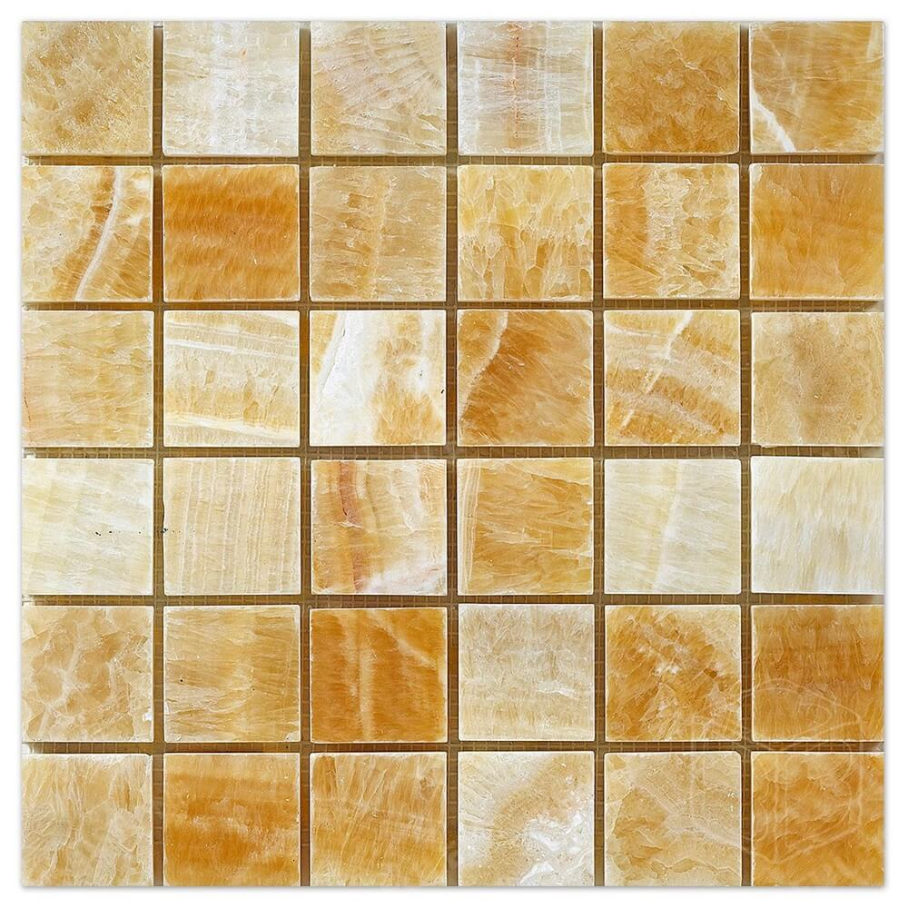 Honey Onyx Marble Mosaic tile