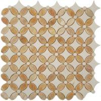 Honey Onyx & Thassos White Marble Mosaic tile
