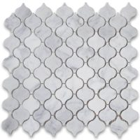 Italy Carrara White Marble Lantern Shaped Mosaic