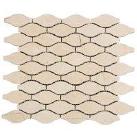 Nature Stone Crema Marfil Waves Mosaic Tile