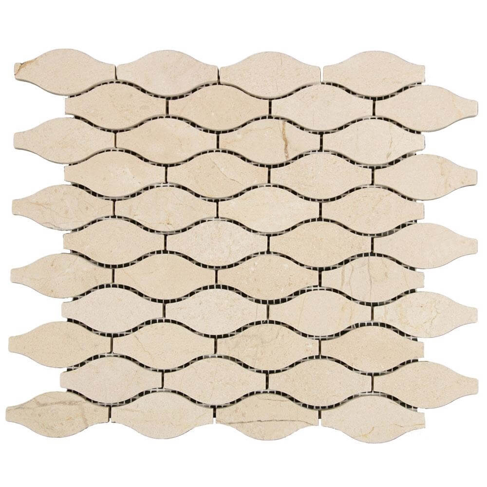 Nature Stone Crema Marfil Waves Mosaic Tile