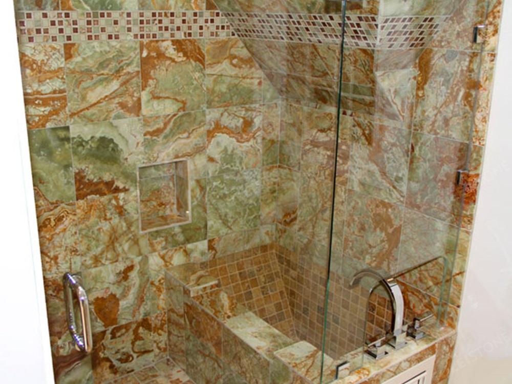 Onice Verde Afgano for Bathroom