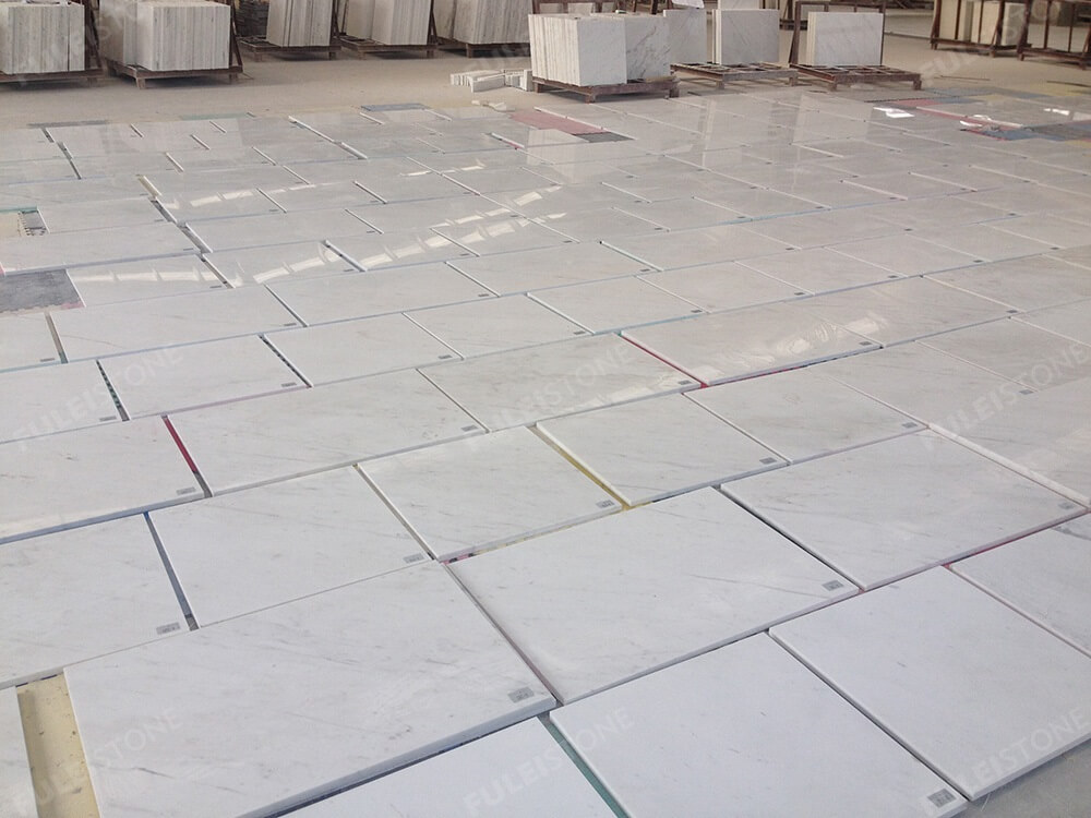 Polished Ariston White Marble Tiles