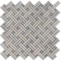 Polished Carrara White Marble Mesh Mosaic tile