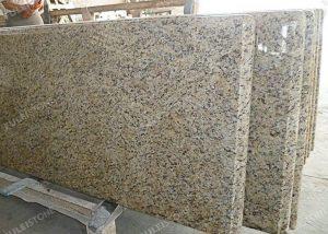 Polished Giallo Ornamental Granite Kitchen Countertops