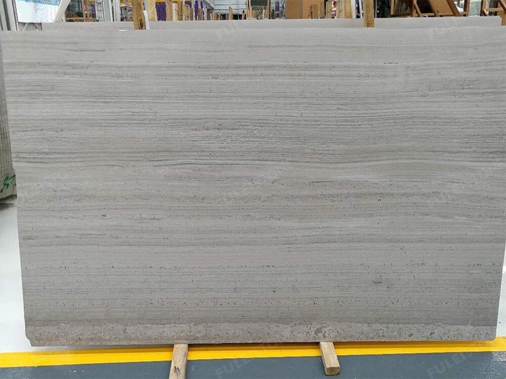 Polished White Wood Marble Slab