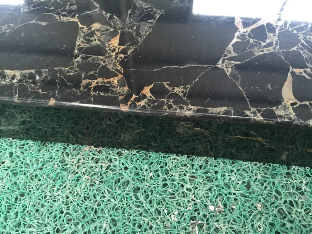 Portoro Breccia marble top