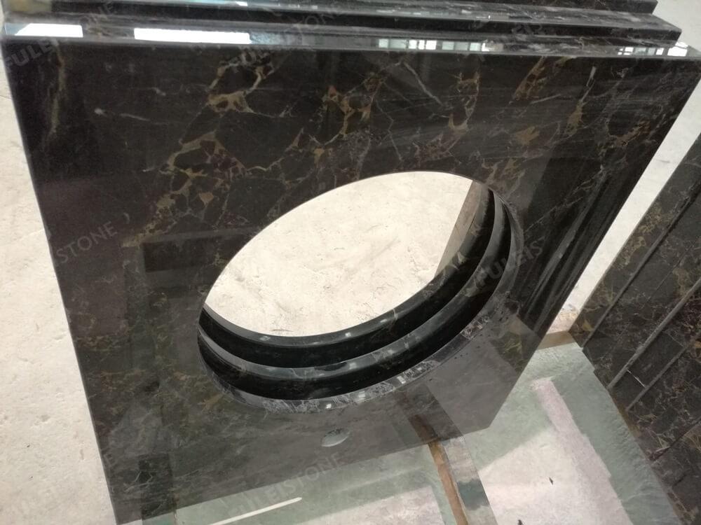 Portoro Breccia marble vanity tops
