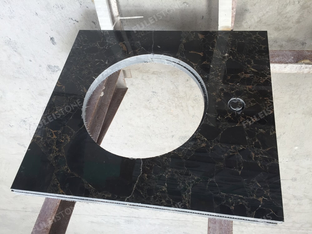 Portoro Brecciato marble vanity top