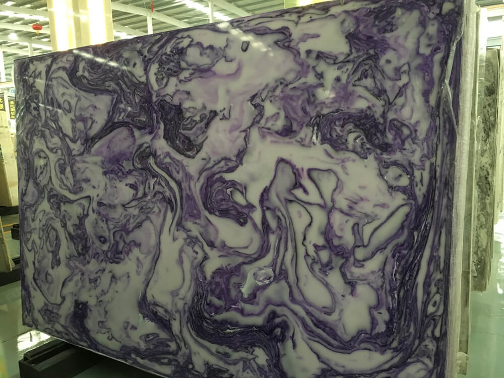 Purple Artificial Onyx Slab