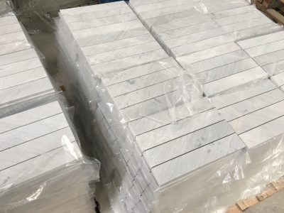 Rectangle Tile of Lais Grey Marble