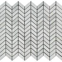 The 1x4 White Carrara Marble Line Mosaic Tile