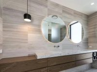 White Wood Marble Bathroom Decoration