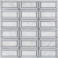 Windows Waterjet Mosaic Carrara Marble Mosaic Tile