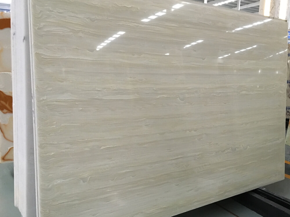Wooden Artificial Onyx Slab