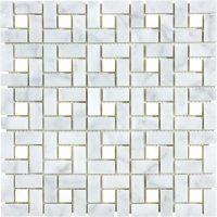 carrara pinwheel marble natural stone mosaic tile