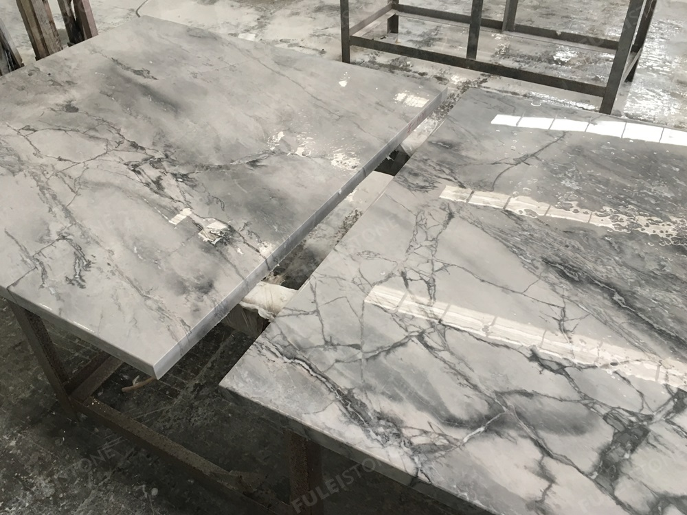 cut to size of Super White Marble