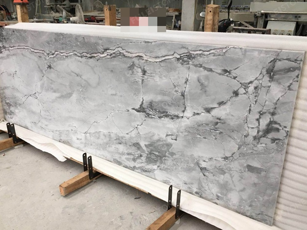 precut countertop of super white marble