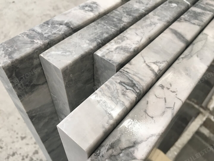 3cm Super White Quartzite Polished Edge