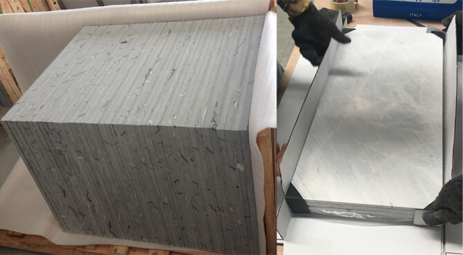 two types of packaging for marble tile