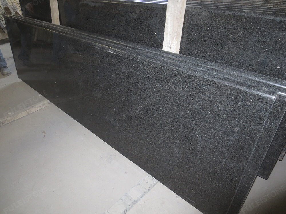 Polished Black Pearl Granite Kitchen Countertops