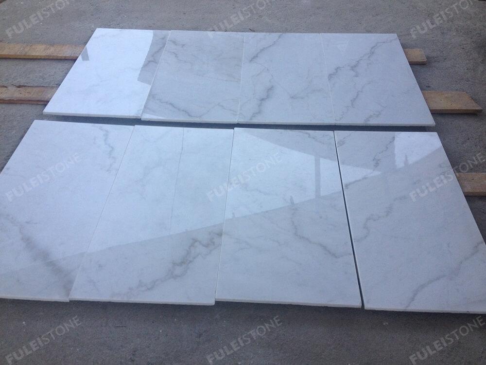 Guangxi White Marble Flooring Tiles