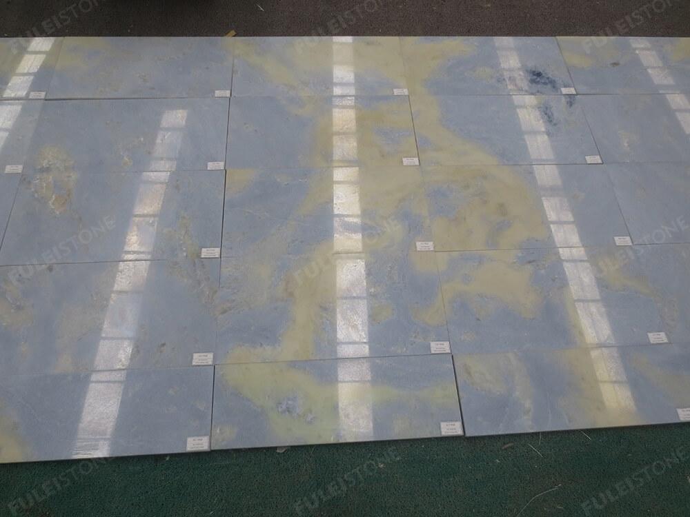 Lumen Blue Marble Onyx Flooring Tile