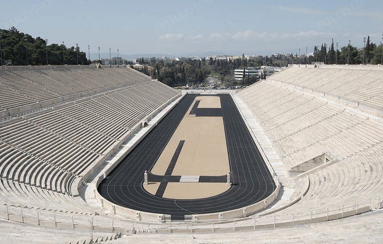 Panathenaic Stadium by stone