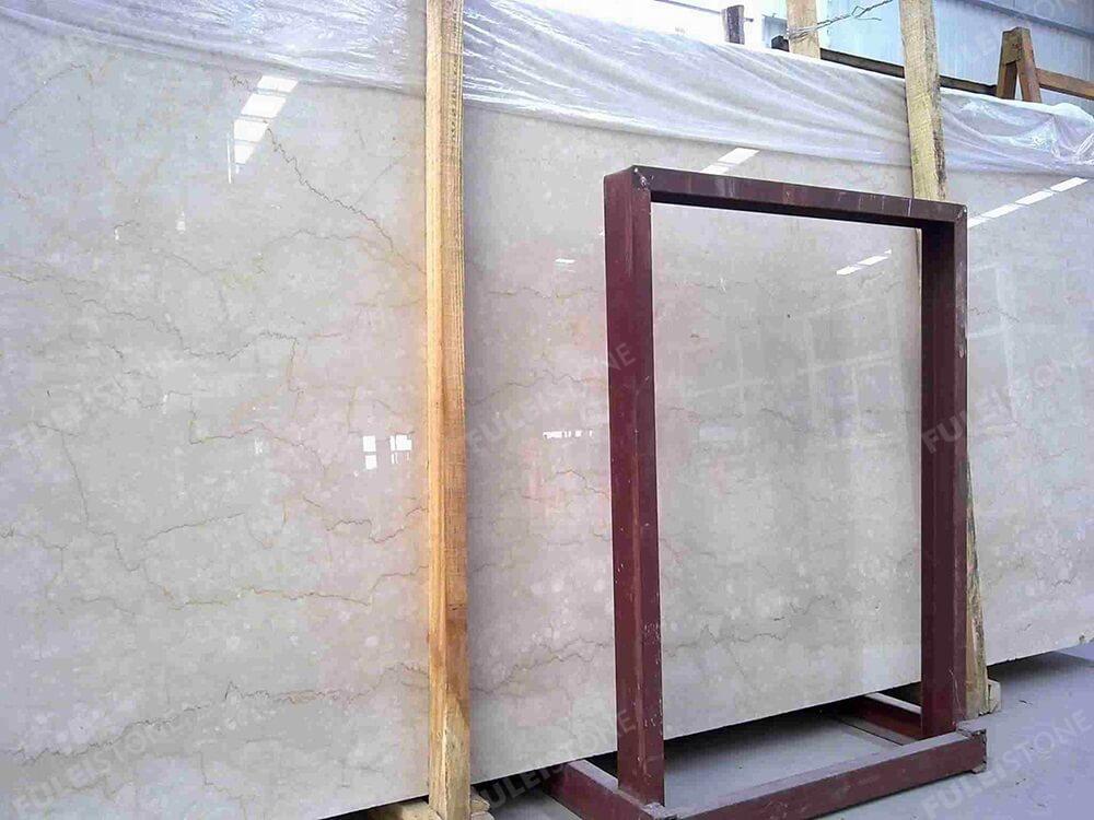 Polished Botticino Classico Marble Slab