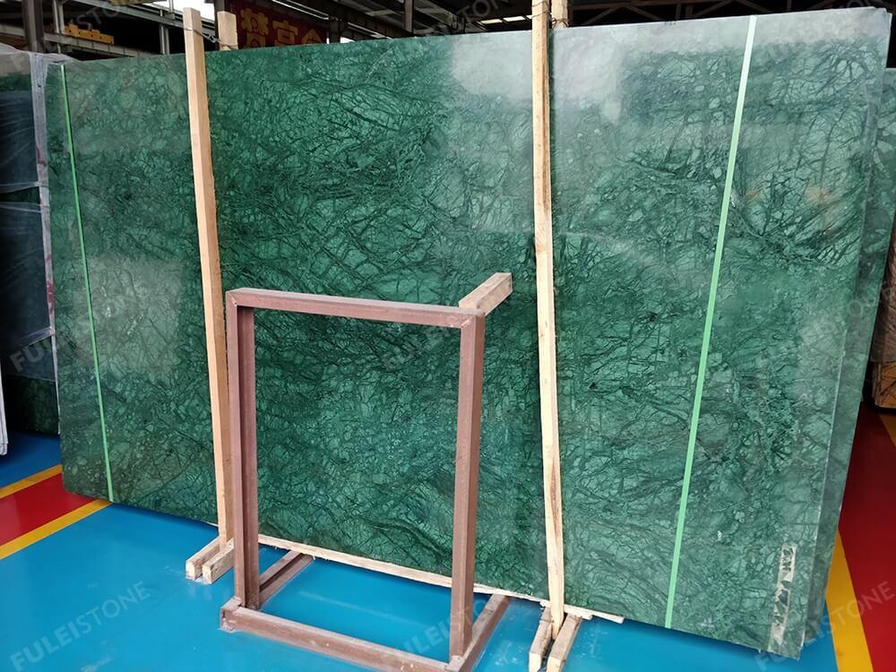 Polished Verde Guatemala Marble Slabs