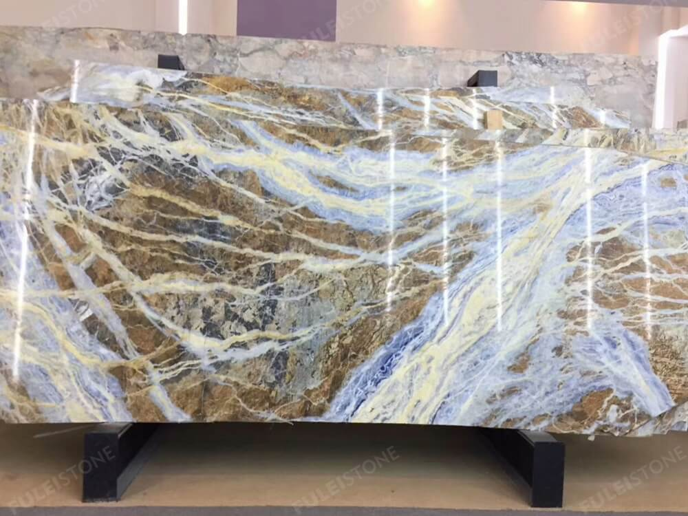 Blue Jeans Marble Polished