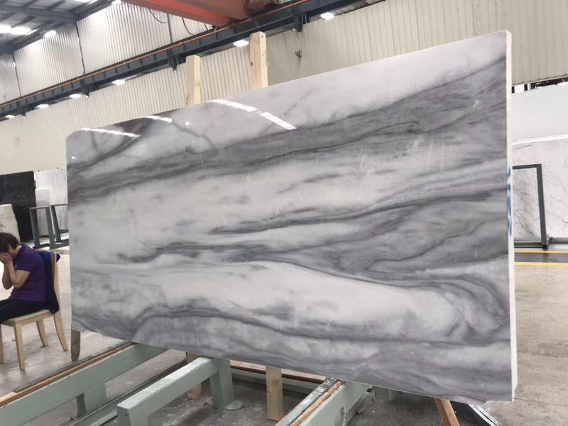 HJ18044 Cloudy Misty Marble Slabs (1)
