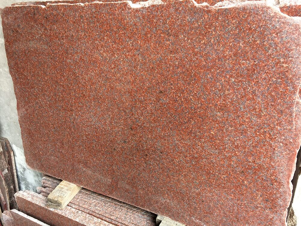 Polished Ruby Red Granite Slab