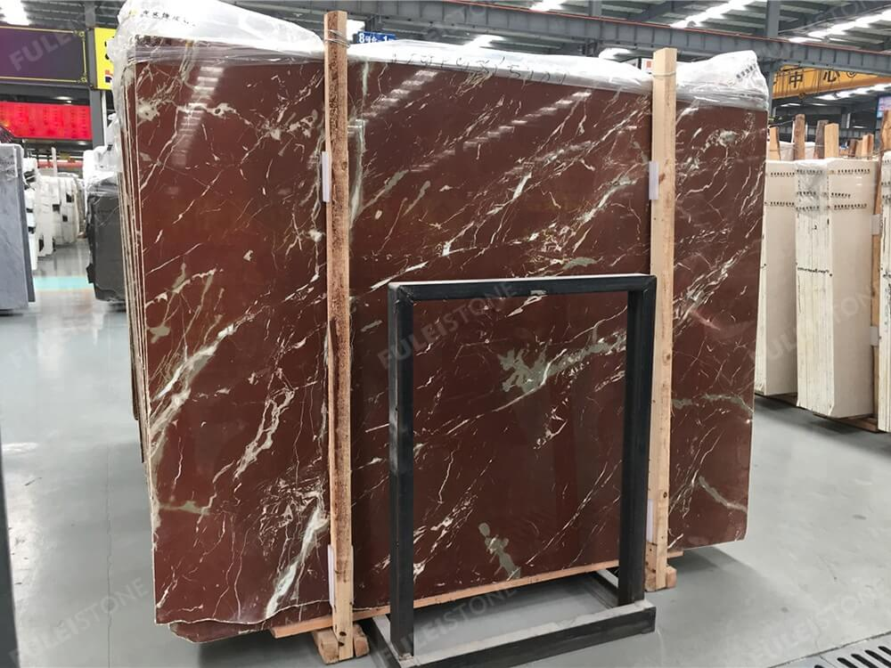 Rosso Alicante Marble Slab