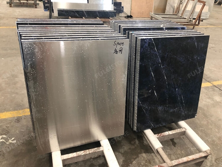 Sodalite Blue Tiles with Aluminum Composite Panel