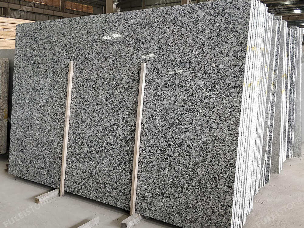 Wave White Granite Slab