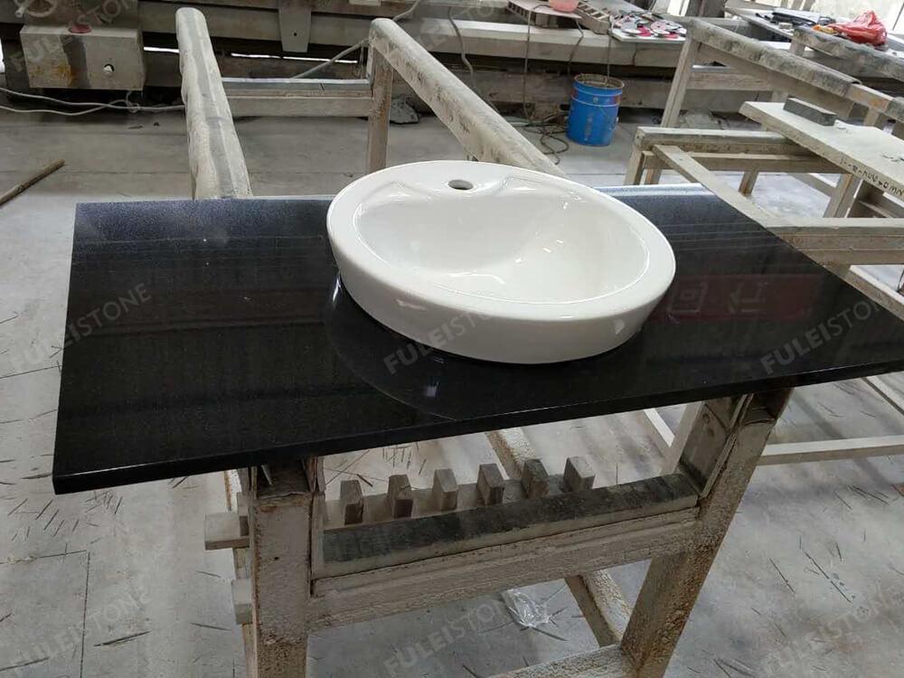 Absolute Black Granite Vanity Top with Sink