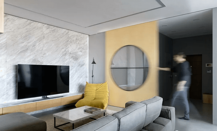 Aquila Marble for TV wall desing