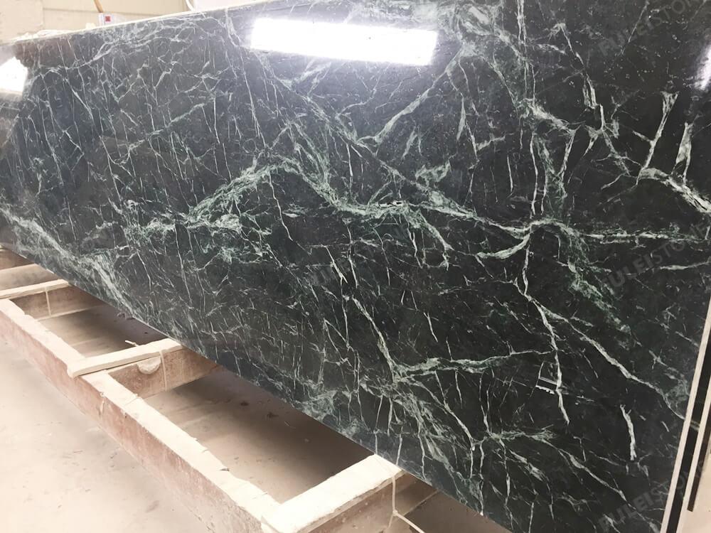 Dark Green Marble Kitchen Countertops