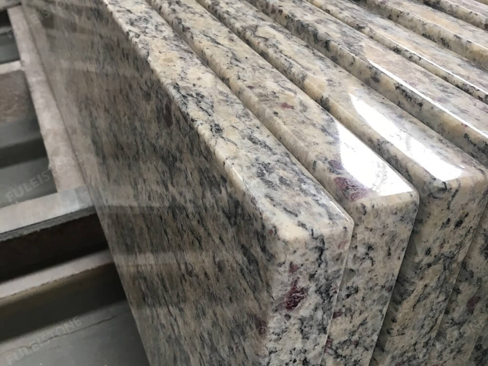 Light santa cecilia granite eased edges