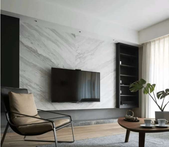 Volakas marble for TV wall