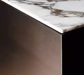 close up design of marble table