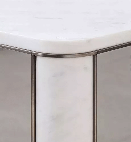close up design of marble with steel