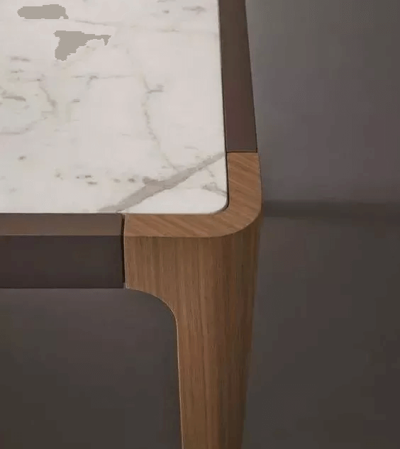 close up design of white marble table