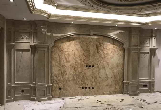 marble TV wall design style